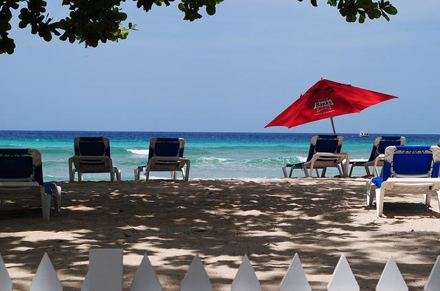 pláž na Barbadosu