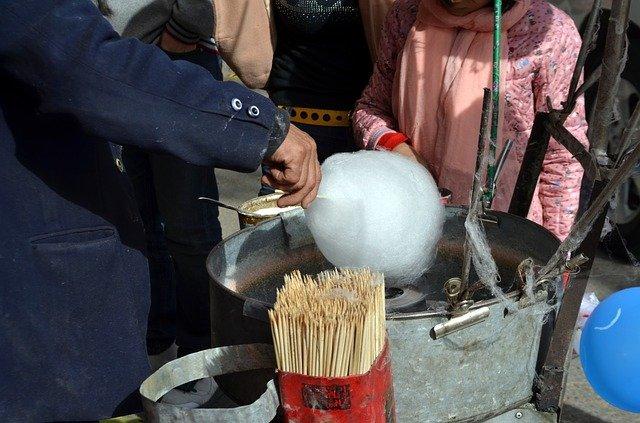 výroba cukrové vaty