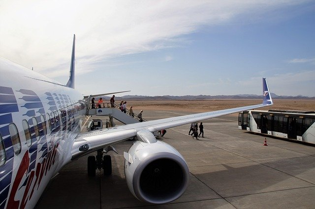 výstup z letadla