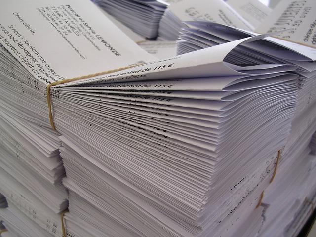 Svazky potištěného papíru